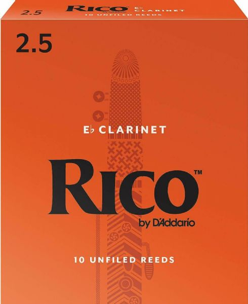 Rico 2.5 Strength Reeds for Eb Clarinet (Pack of 10) - RBA1025